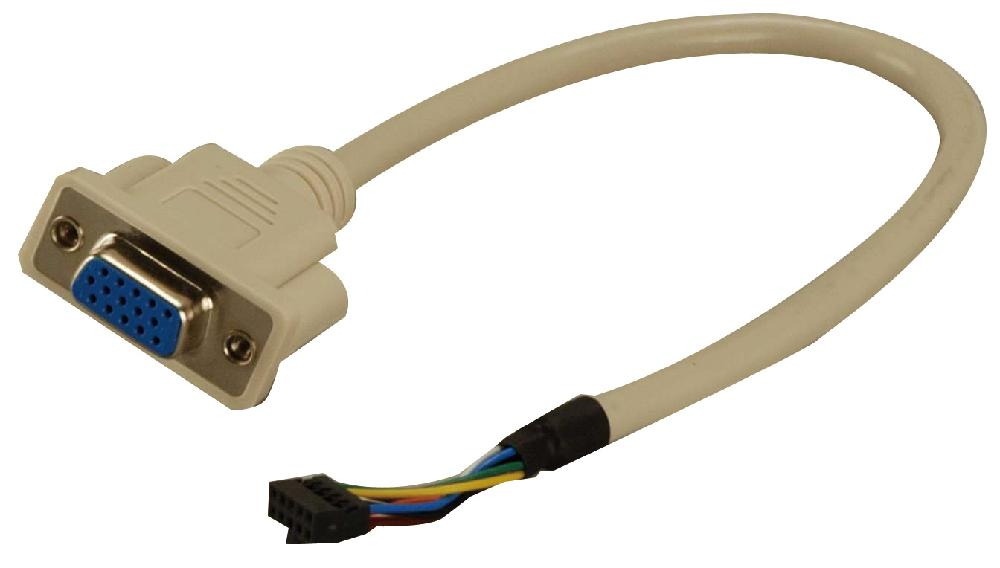 IEI Technology 19800-000300-100-RS RS-232 Cable with Bracket,L:30cmD-9M,10-pin connectors P:2.0 2x5